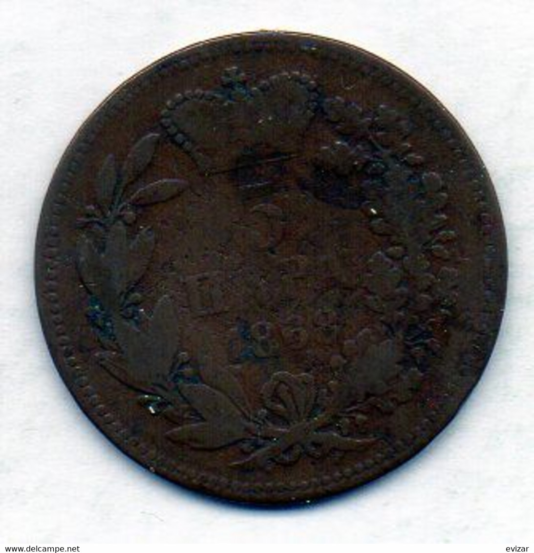 SERBIA, 5 Para, Bronze, Year 1868, KM #2 - Serbia