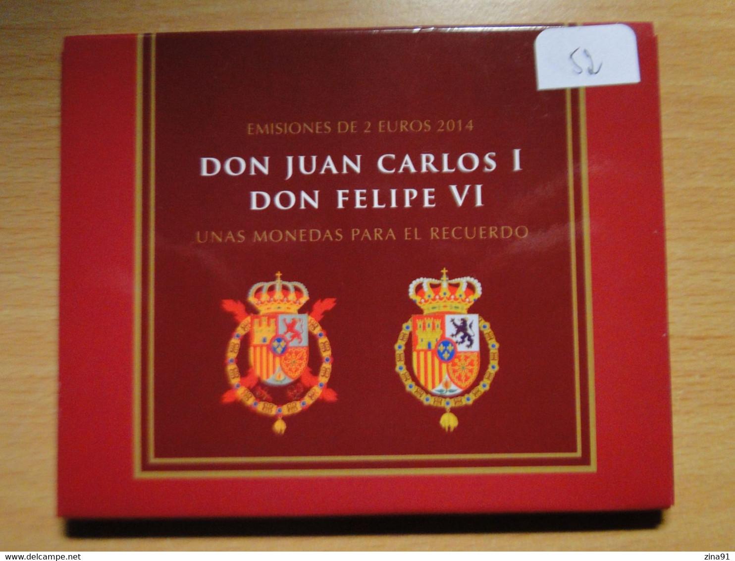 Espagne - Coffret 2 Euro Juan Carlos I Et Felipe VI 2014 Madrid - Espagne