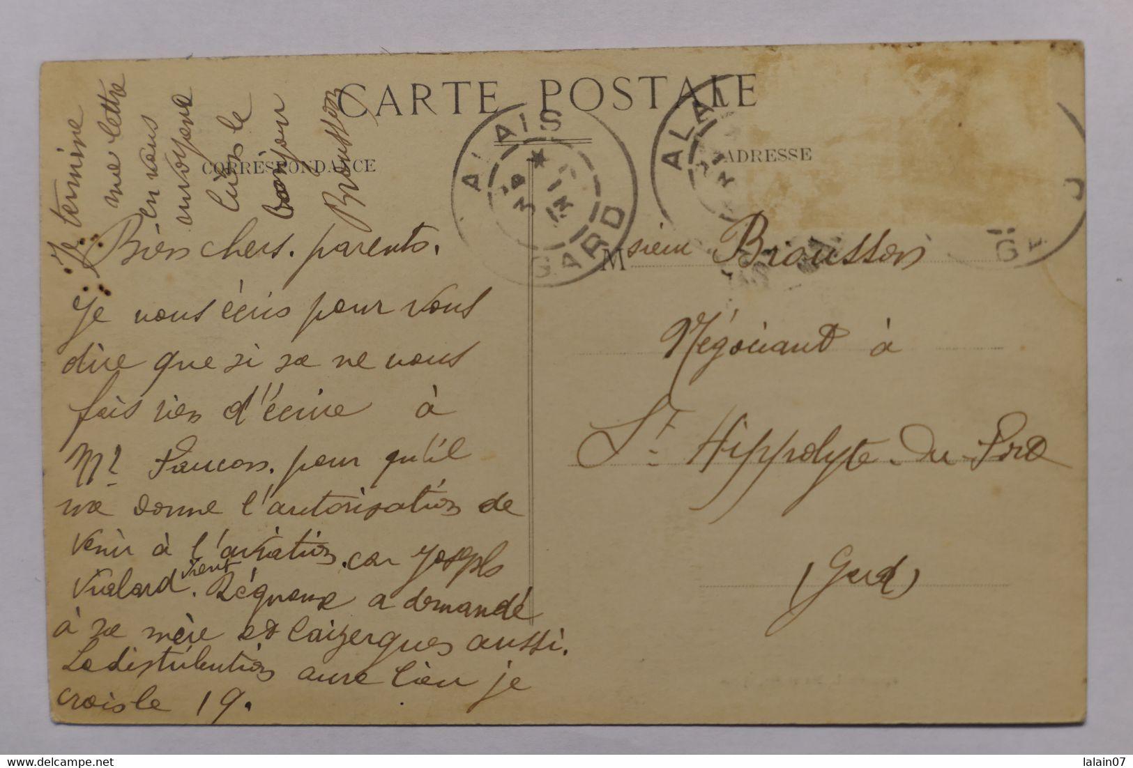 C. P. A. : 30 ALES, ALAIS : Place J.-B. Dumas Et Chantilly, En 1913 - Alès