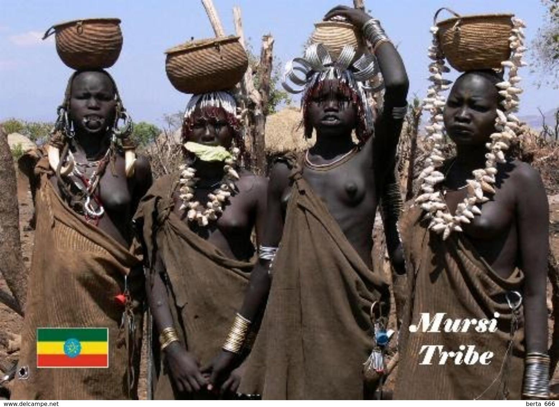 Ethiopia People Mursi Women New Postcard Äthiopien AK - Ethiopië