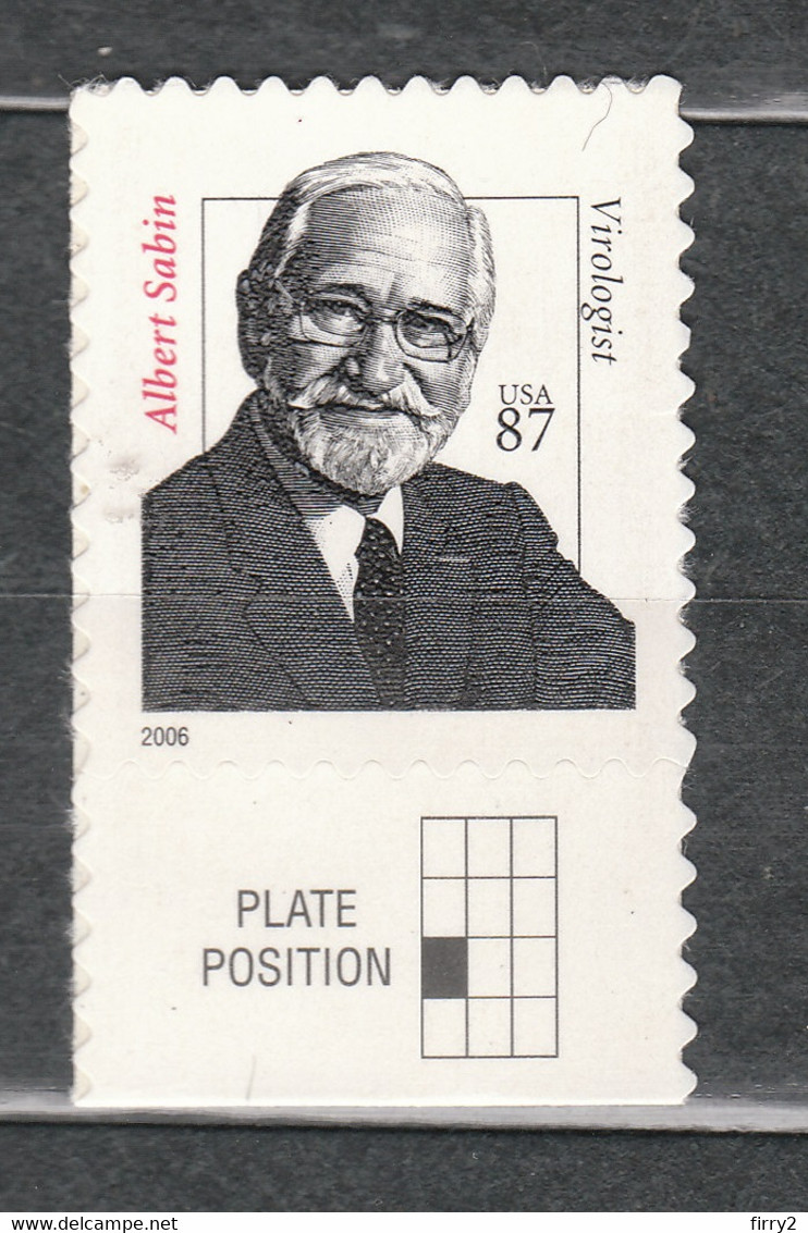 USA Scott # 3435        2006   Dr Albert Sabin  87c   Mint NH  (MNH) - Unused Stamps