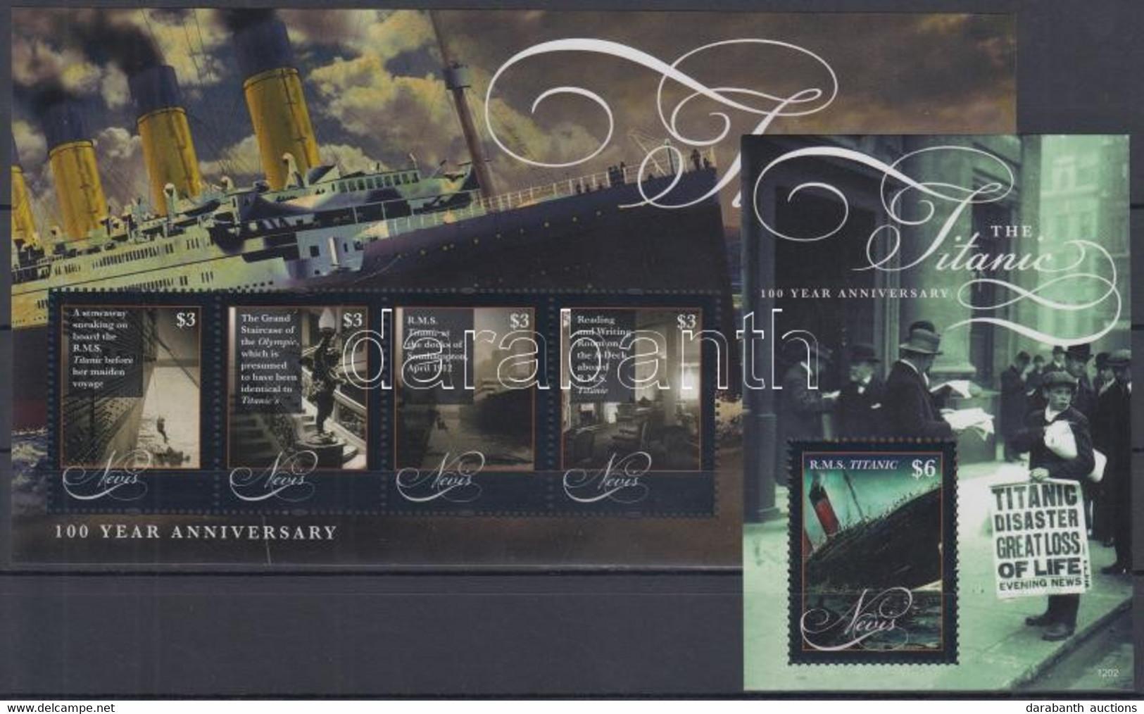 ** 2012 100 éve Süllyedt El A Titanic Kisív Mi 2678-2681 + Blokk Mi 311 - Non Classificati