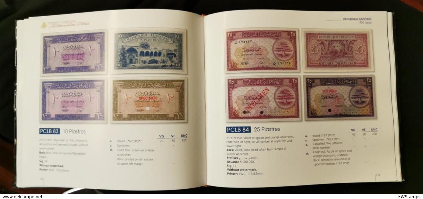 Lebanon 2021 Professional Catalogue Of Lebanese Banknotes 1919 2020 By Ali Chour - Lebanon