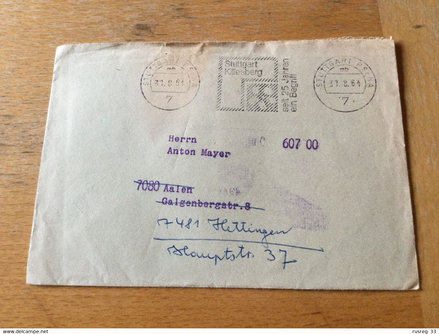 K13 BRD 1964 Brief Vom Postscheckamt Stuttgart Mit Mwst. Killesberg - Covers & Documents