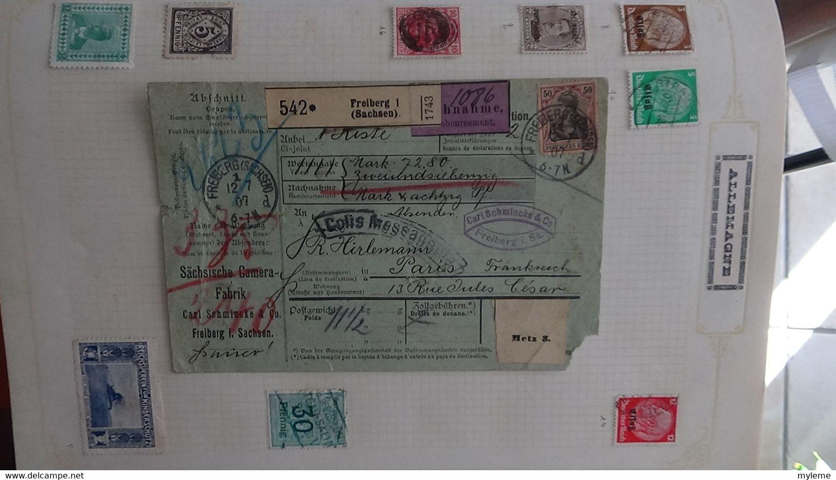 N130 Belle Collection De Timbres Sur Feuilles  De Différents Pays Dont Açores, Allemagne, Angola ... A Saisir  !! - Sammlungen (im Alben)