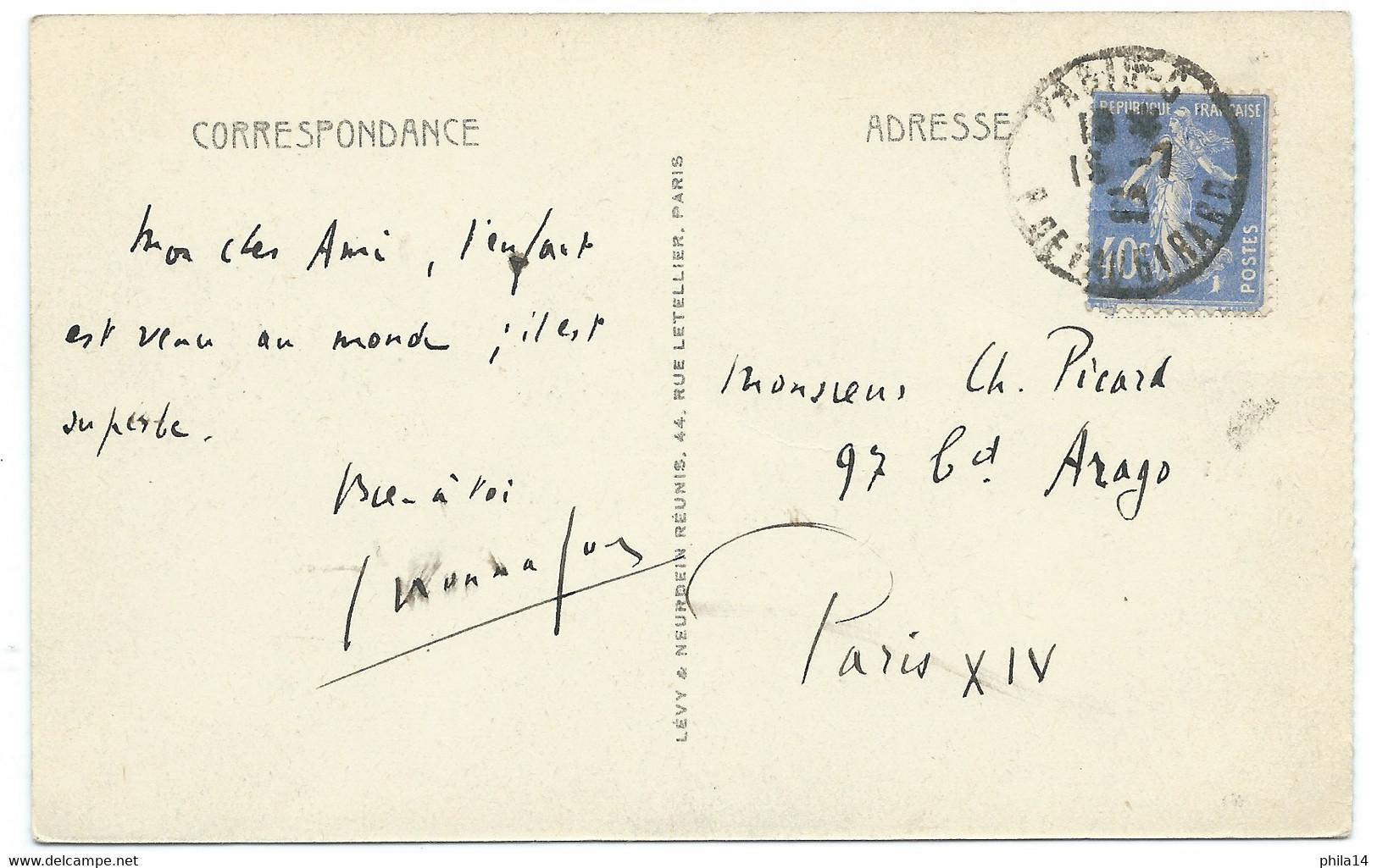 CPA MAROC / VIEIL ARABE / 1930 / POUR PARIS - Other