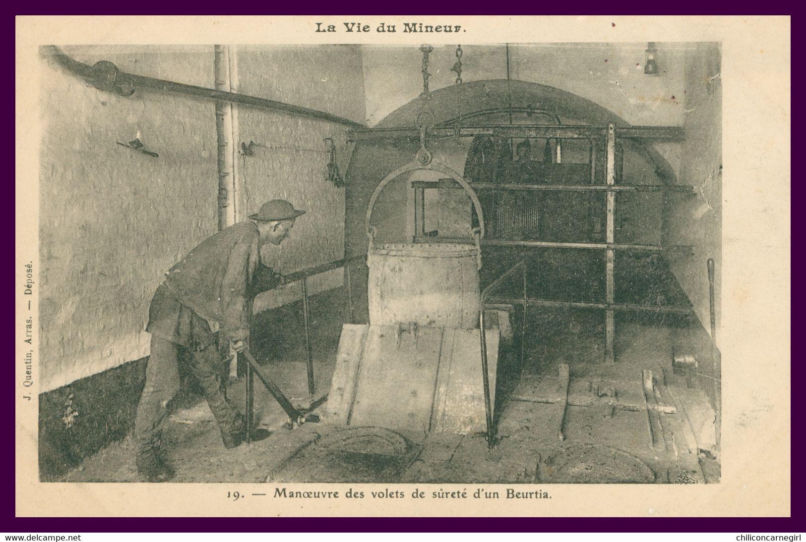 La Vie Du MINEUR - Manoeuvre Des Volets De Sûreté D'un Beurtia - Animée - Edit. J. QUENTIN - Mijnen