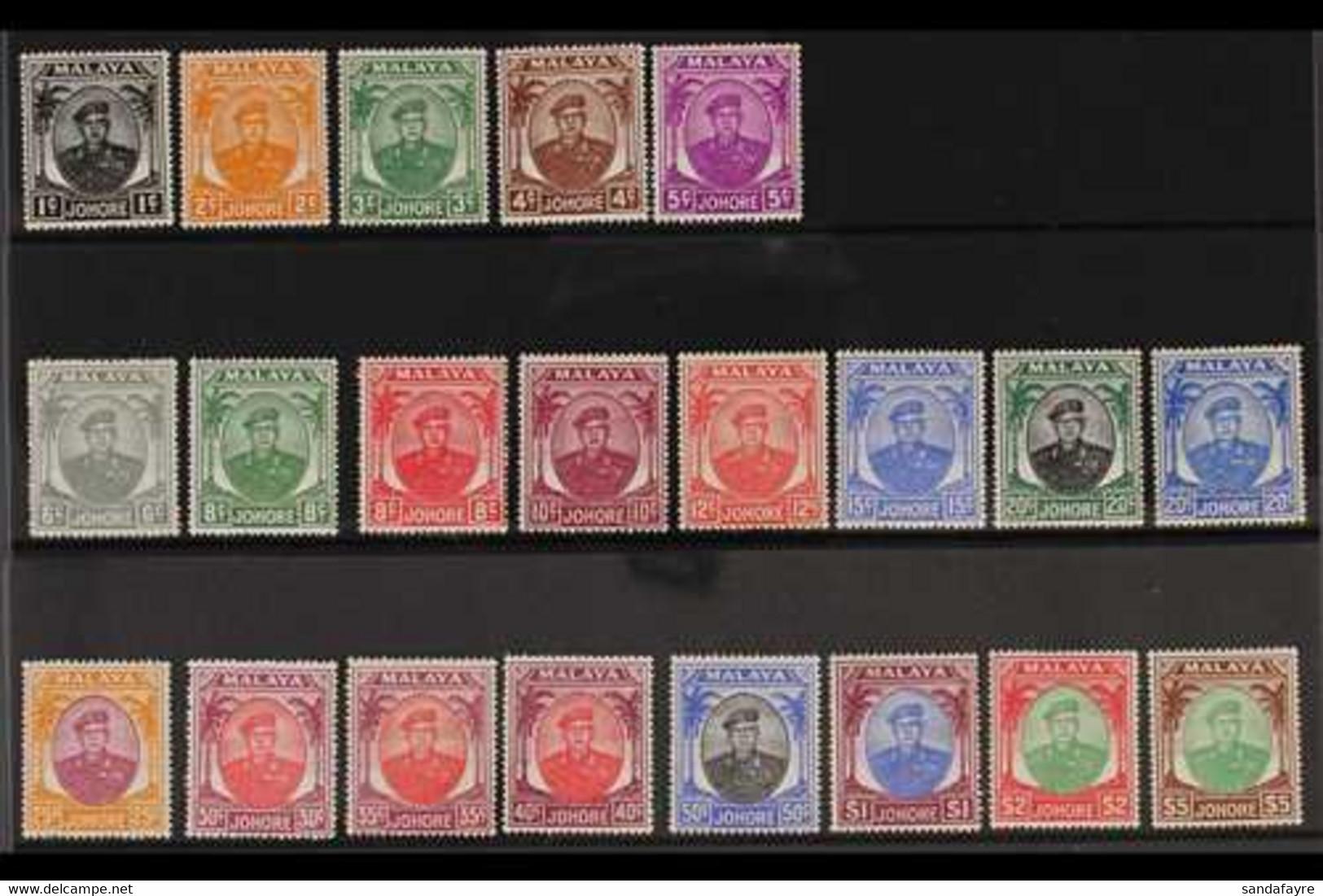 JOHORE 1949-55 Sultan Ibrahim Set, SG 133/147, Very Fine Mint (21 Stamps) For More Images, Please Visit Http://www.sanda - Non Classificati