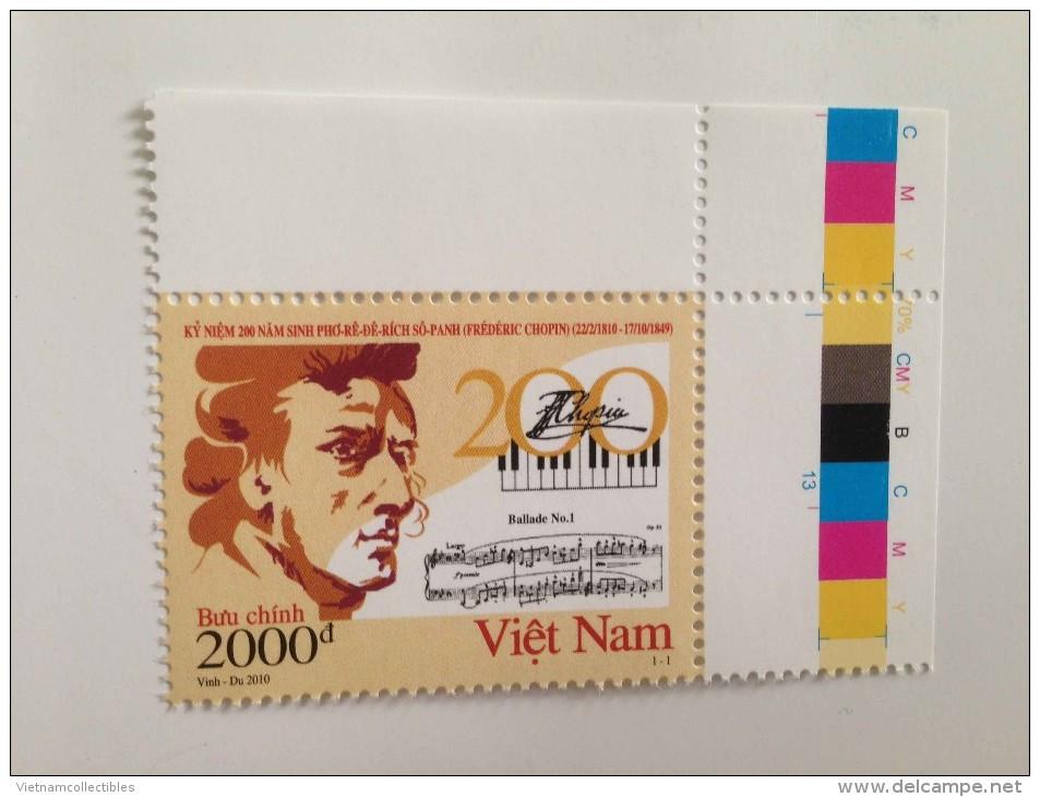 Vietnam Viet Nam MNH Perf Withdrawn Stamp 2010 : 200th Birth Anniversary Of Chopin / Music (Ms989) - Vietnam