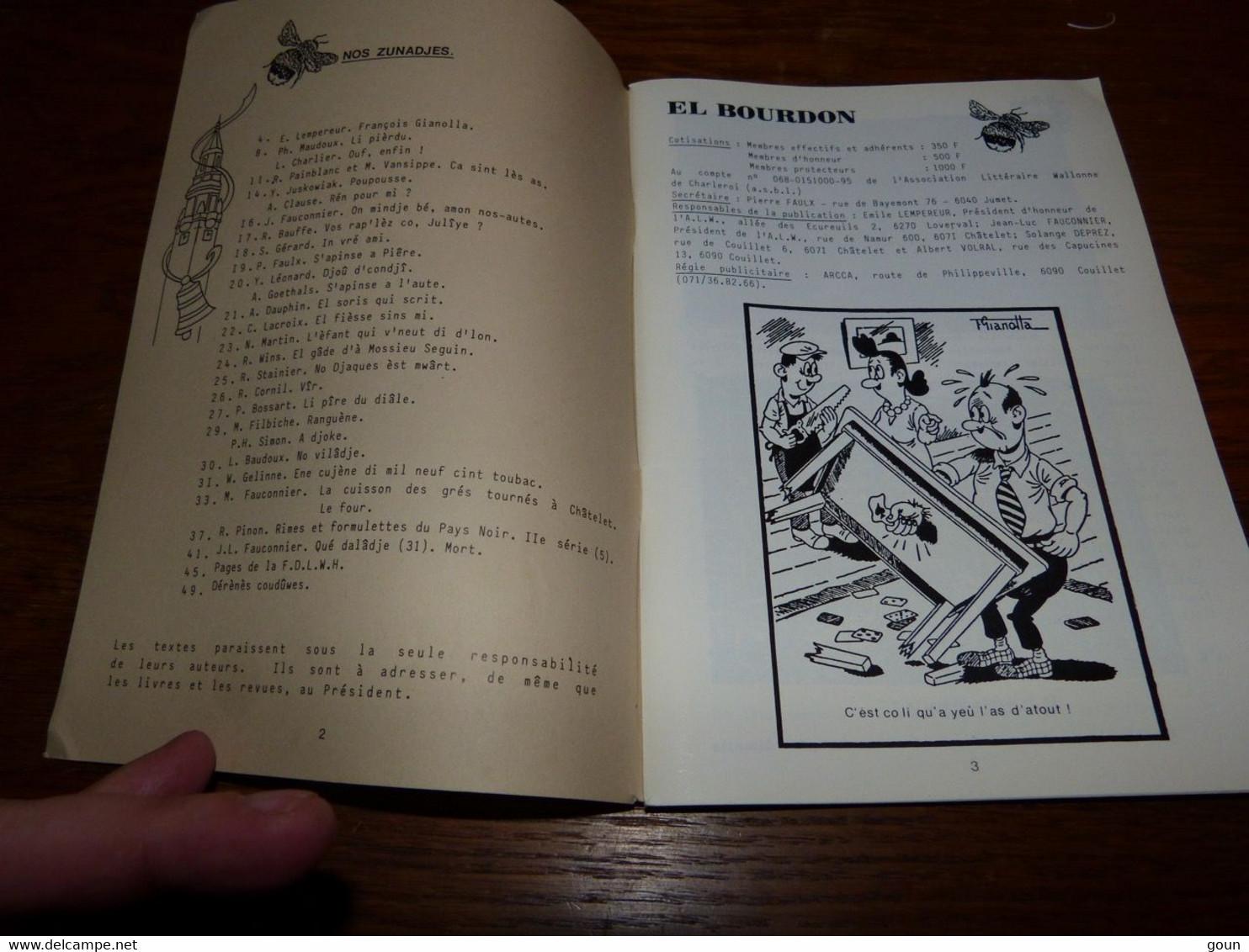 Revue En Wallon El Bourdon Mai 1988 406 François Gianolla 54 Pages 110gr - Poetry