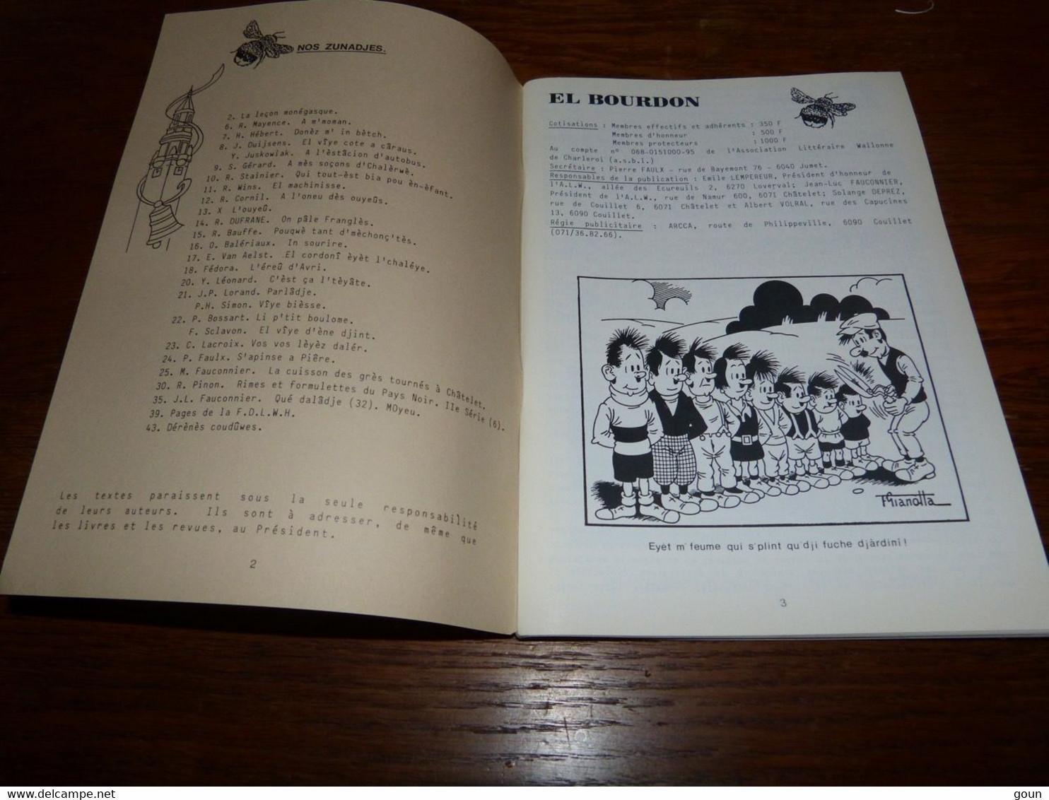 Revue En Wallon El Bourdon Juin 1988 407 G Franzi 54 Pages 110gr - Poetry