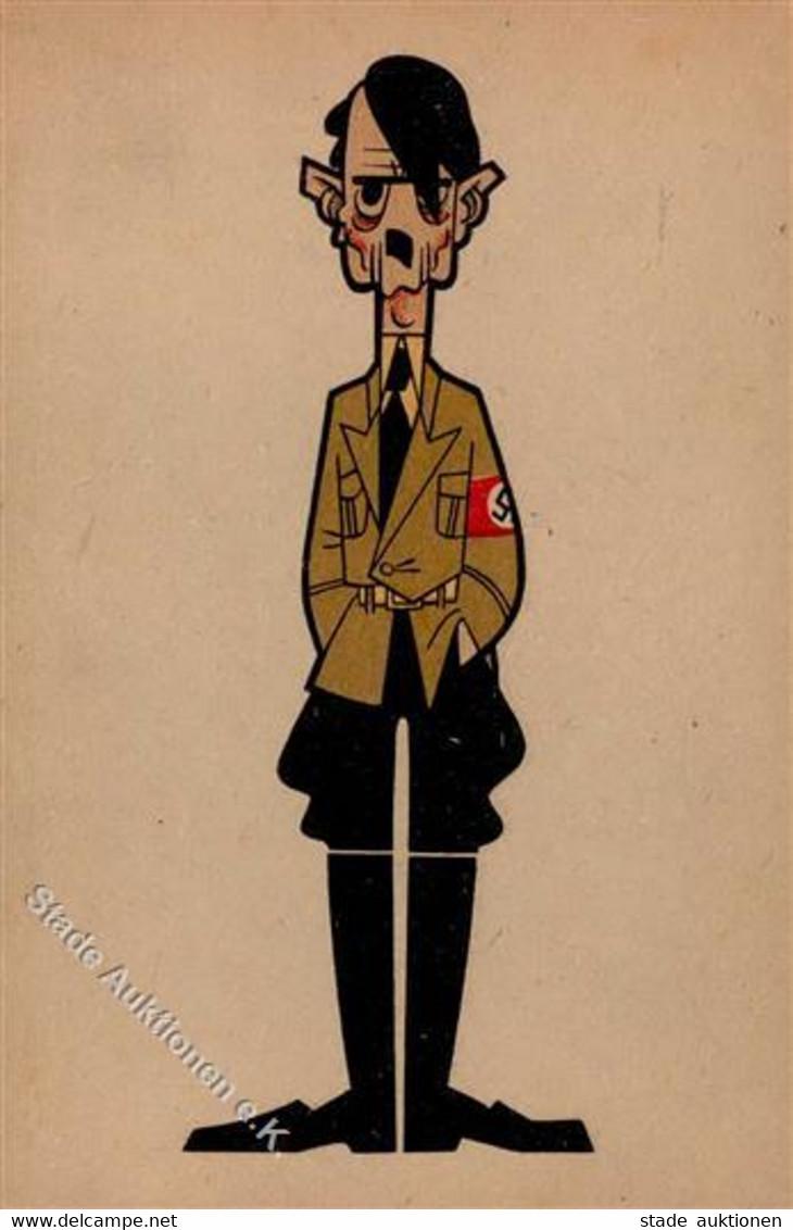 Hitler WK II Karikatur I-II - Guerra 1939-45