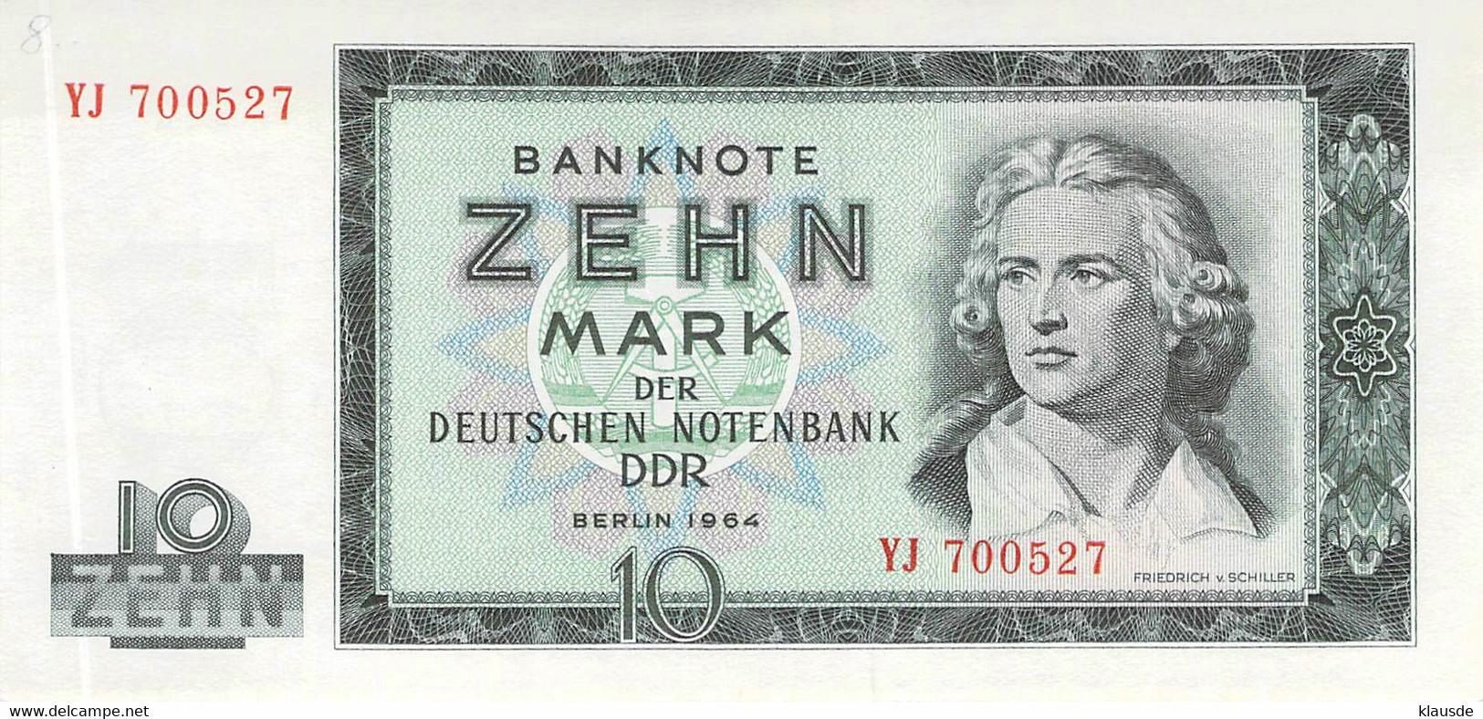10 DM Deutsche Notenbank 1964 DDR UNC (I) - 10 Deutsche Mark