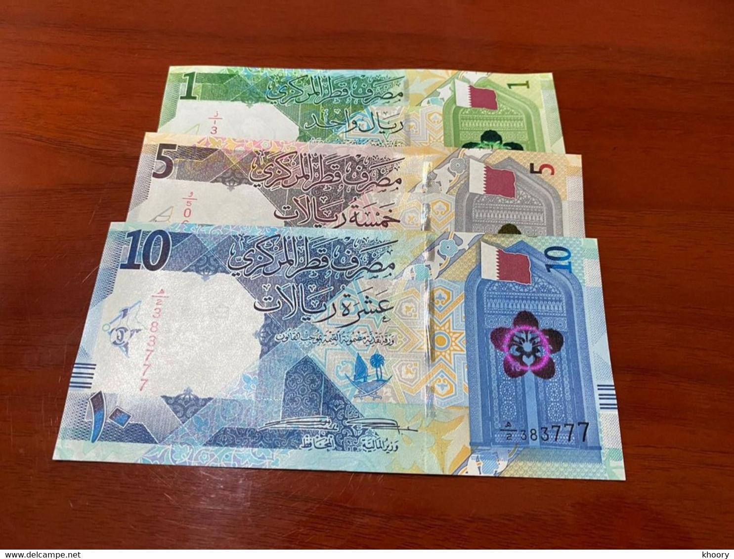New! Qatar 2020 1 5 10  UNC Riyals P-NEW - Qatar