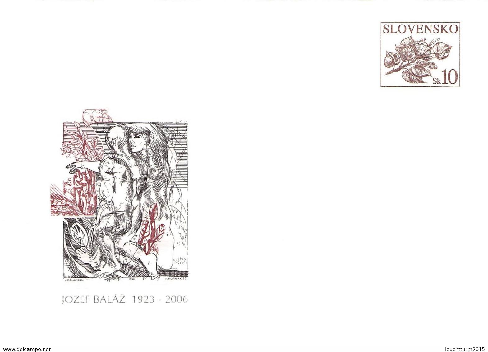 SLOVAKIA - STATIONARY ENVELOPE 2006 JOZEF BALÁZ Unc //Q98 - Postales
