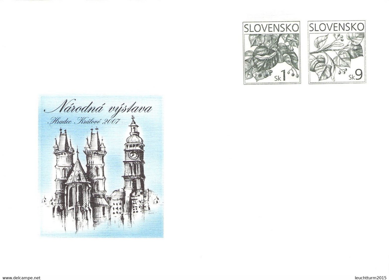 SLOVAKIA - STATIONARY ENVELOPE 2007 HRADEC KRALOVE Unc //Q103 - Postales