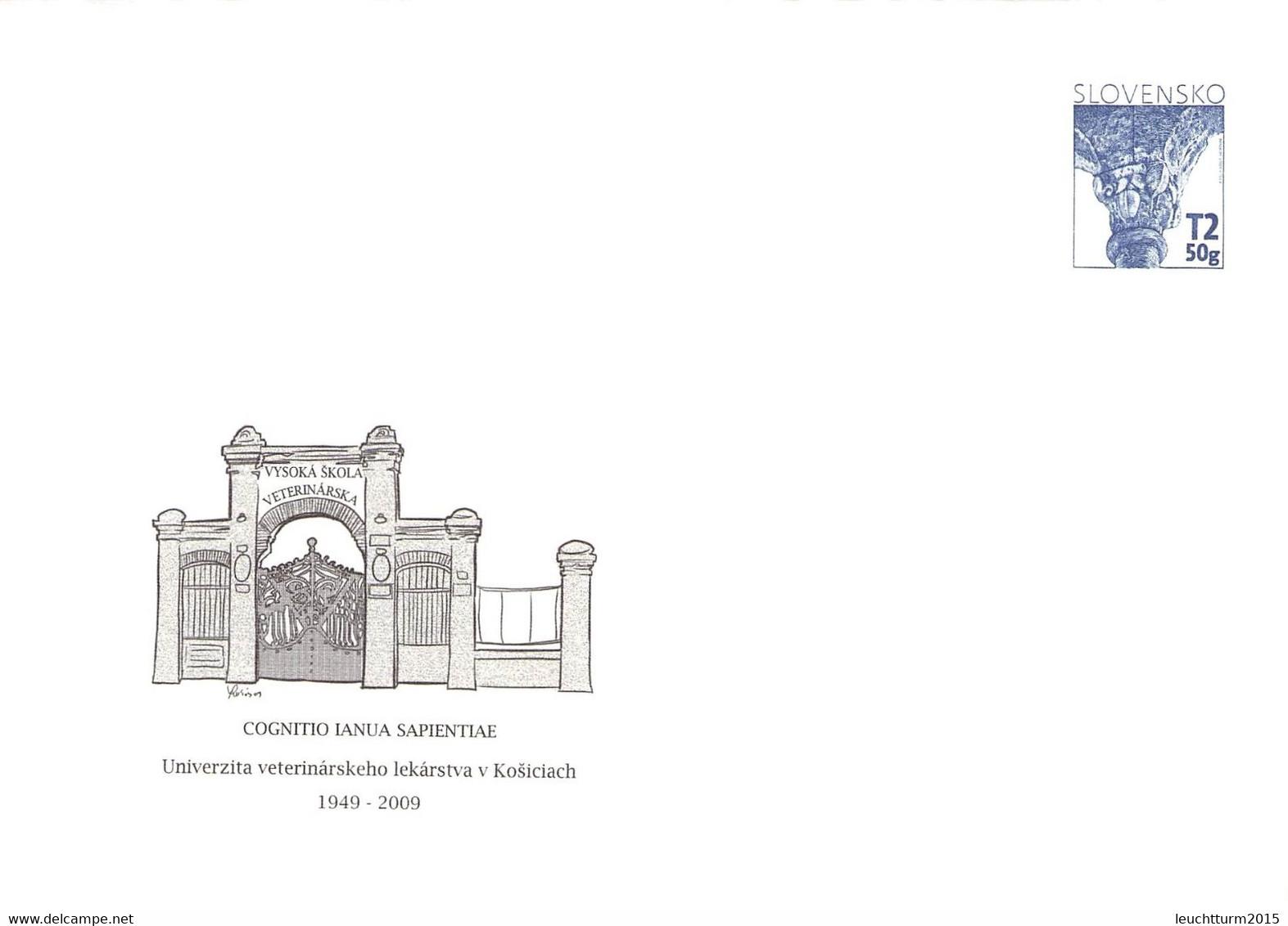 SLOVAKIA - STATIONARY ENVELOPE 2009 UNIVERSITY Unc //Q110 - Postales