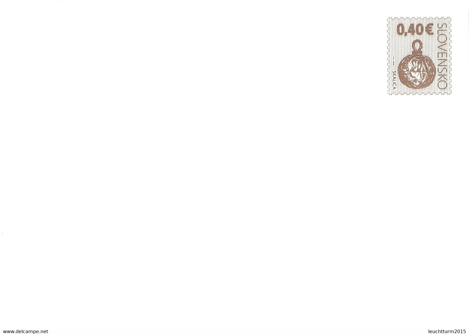 SLOVAKIA - STATIONARY ENVELOPE 2009 0,40€ Unc //Q115 - Postales