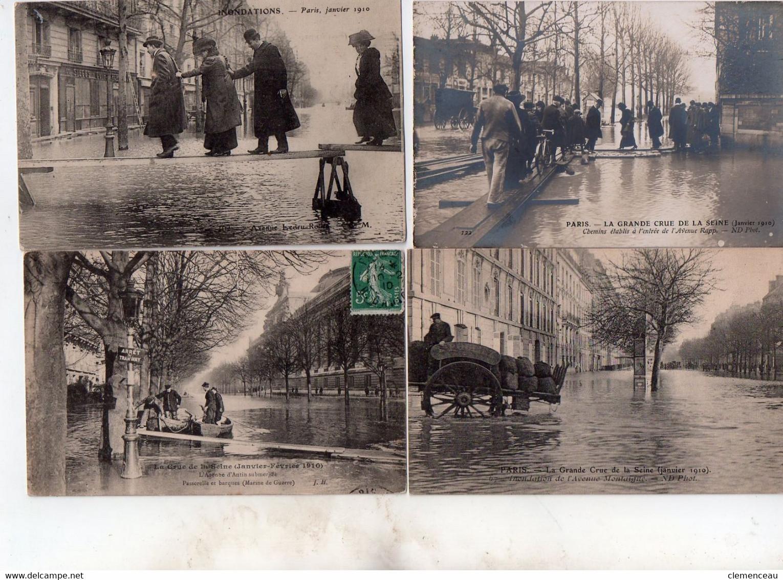 1 Lot De 21 Cartes Paris Inonde - 5 - 99 Postkaarten