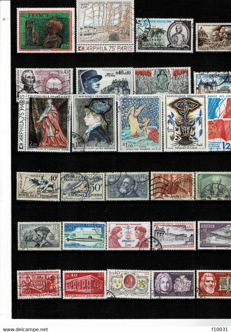 Philatélie Timbres FRANCE ° 53 Timbres à 10 % De La Cote Y&T. - Verzamelingen
