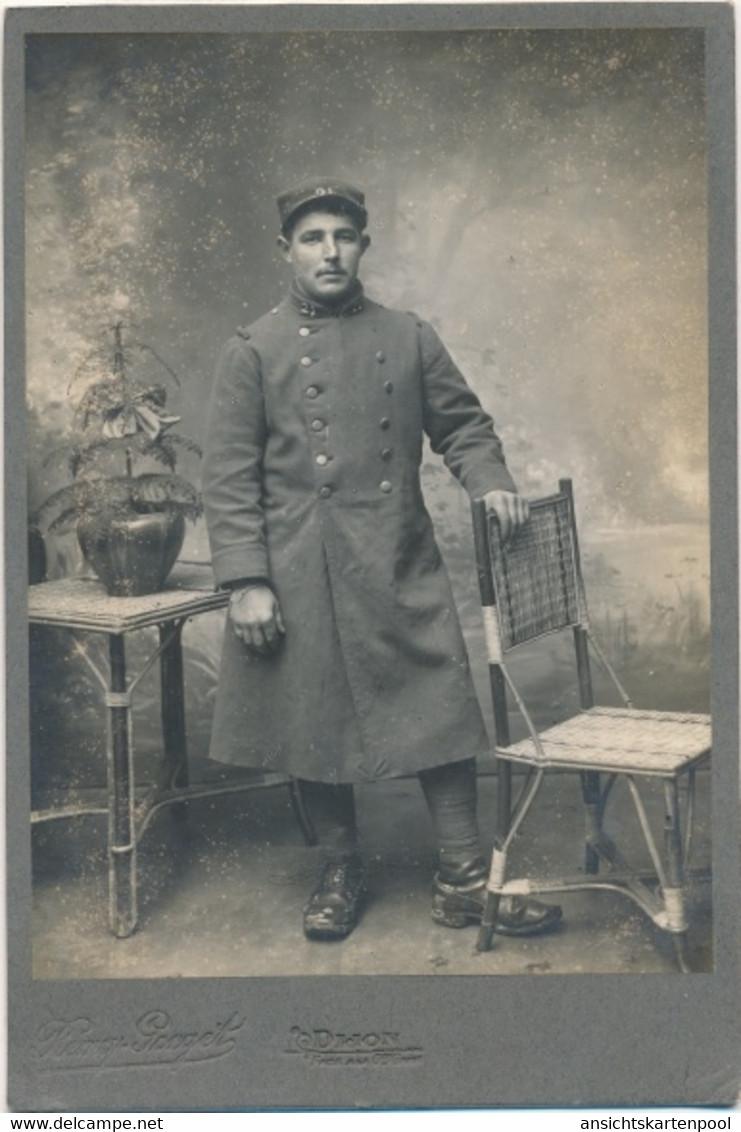 Photo Französischer Soldat In Uniform, Portrait, Fotoatelier Remy Gorget Dijon - Non Classificati