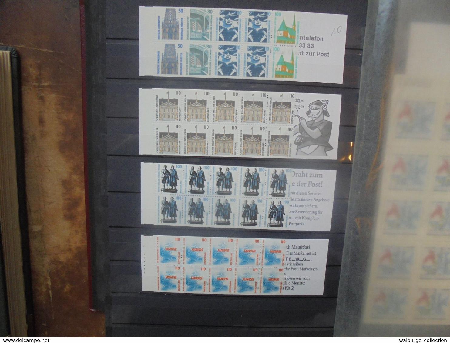 ALLEMAGNE BEAU LOT DE 35 BLOCS+17 CARNETS (RH.36) 1 KILO 100 - Blocks & Sheetlets