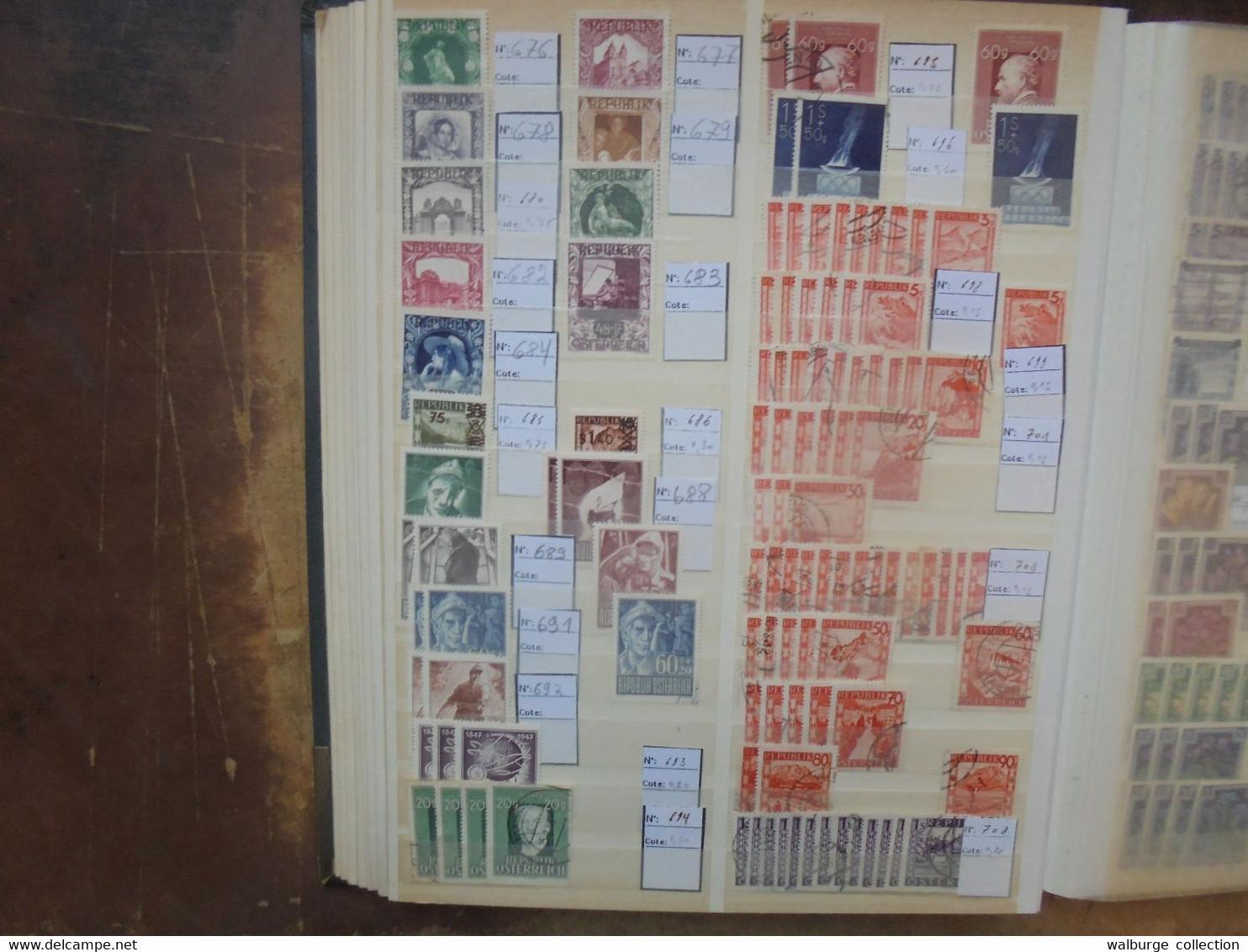 AUTRICHE ORIGINES Jusque 1967 OBLITERES BEAU LOT DE STOCK (RH.37) 1 KILO 800 - Collections