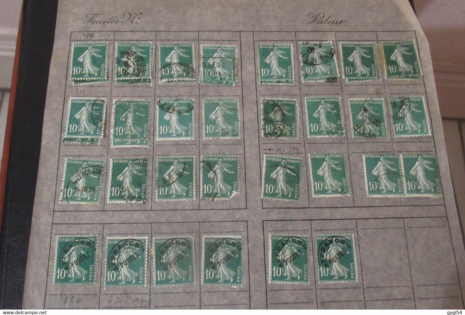VRAC DE FRANCE Et Lot De Perse  96 Scans Forte Cote - Lots & Kiloware (mixtures) - Min. 1000 Stamps