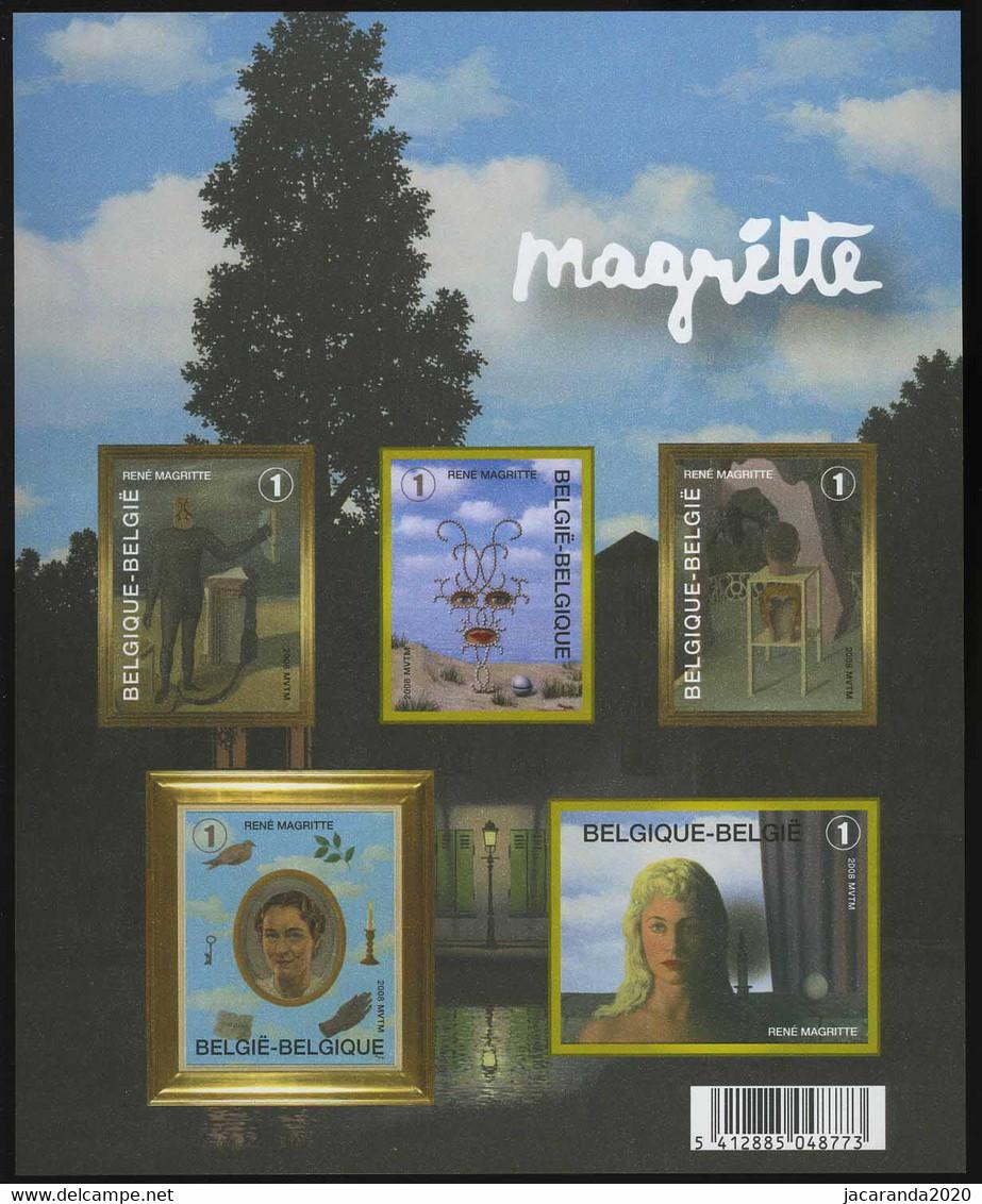 België GCD 4 - 2008 - René Magritte - (BL151) - Blocks & Kleinbögen Schwarz