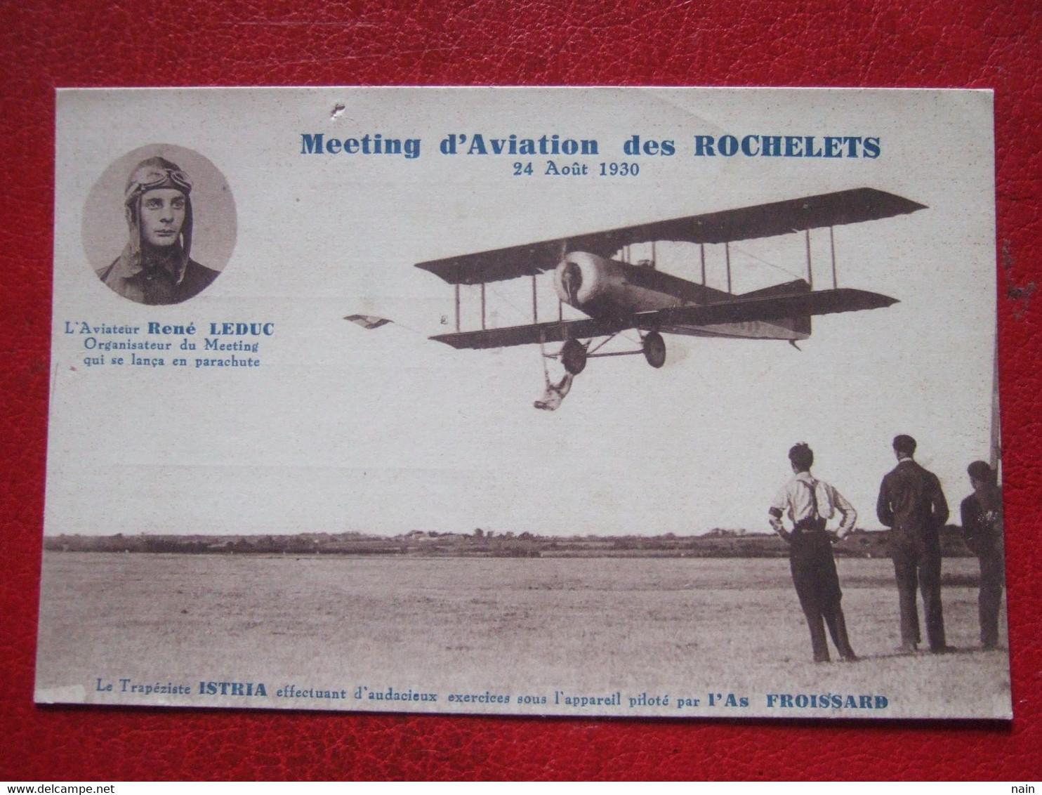 "44 - SAINT BREVIN L'OCEAN - "" MEETING D' AVIATION DES ROCHELETS "" ----- RENE LEDUC ... "" TRES RARE "" - - Saint-Brevin-l'Océan"