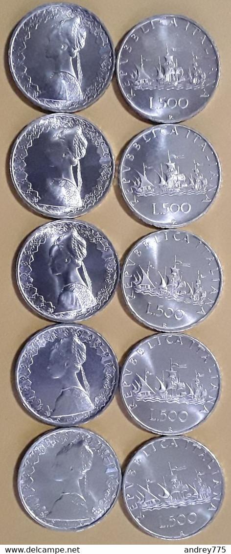 Lotto  Dieci 500 Lire Argento - 500 Lire