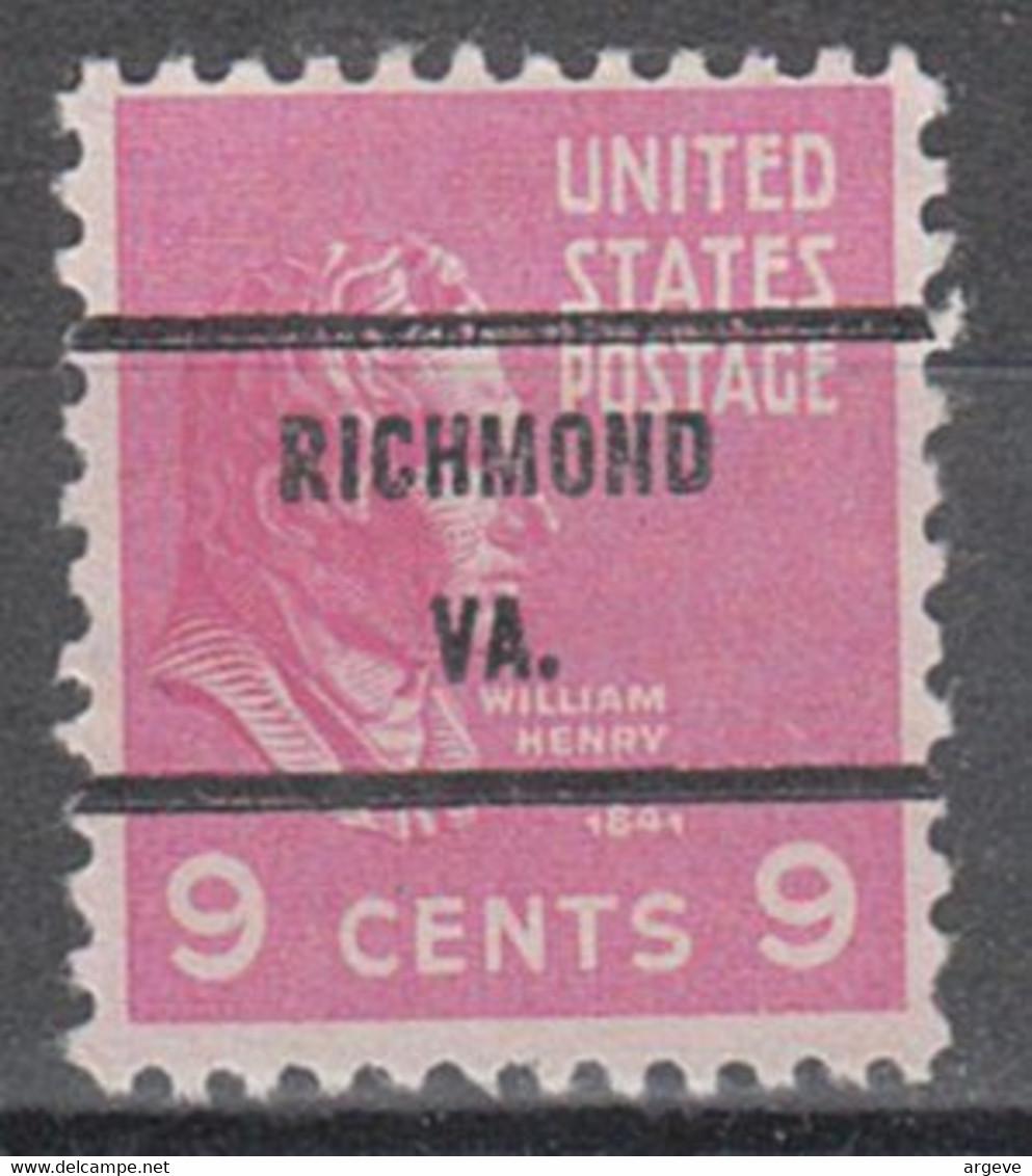 USA Precancel Vorausentwertung Preo, Bureau Virginia, Richmond 814-71 - Precancels