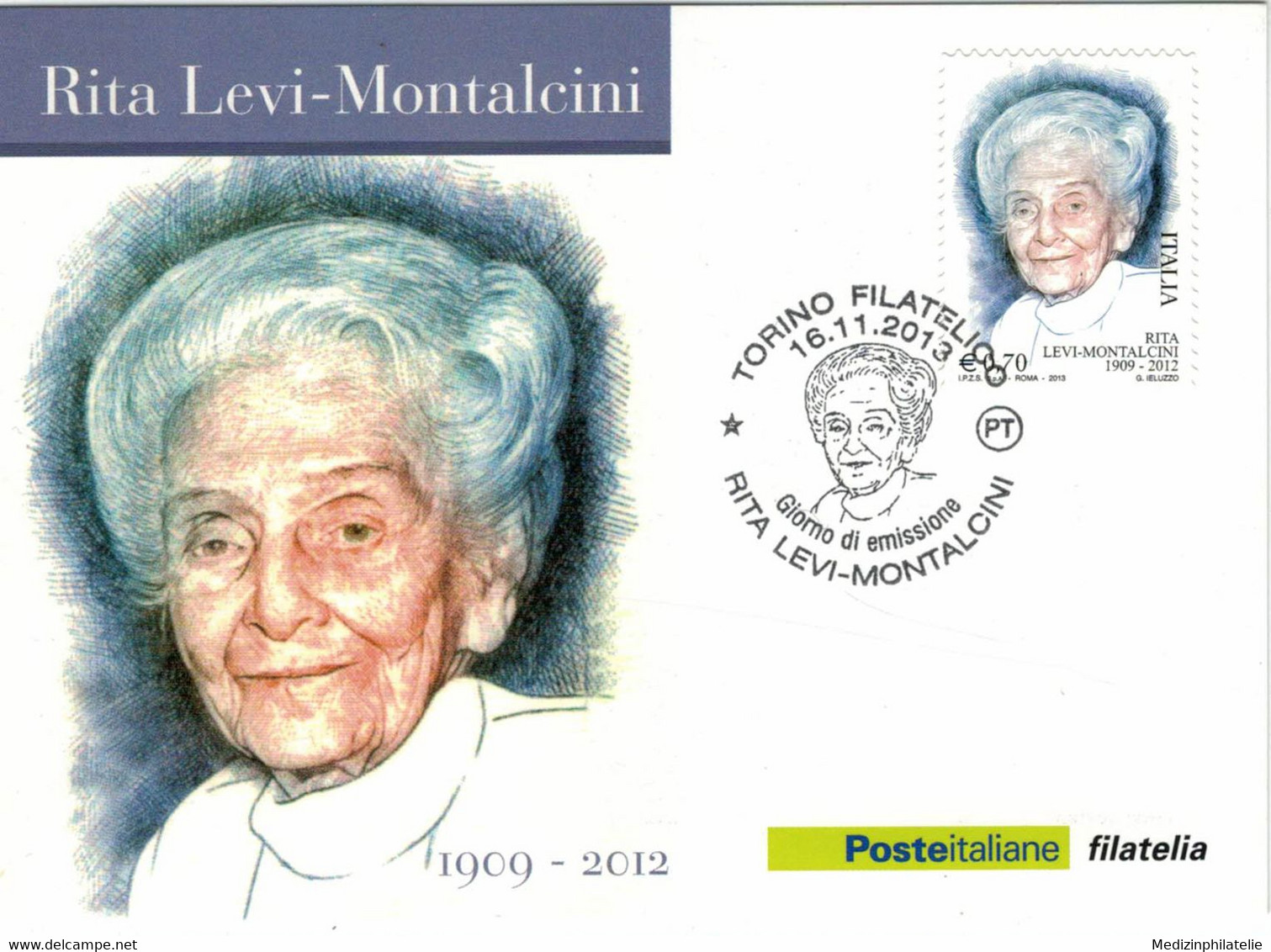 Rita Levi-Montalcini War Eine Italienische Medizinerin Und Neurobiologin - Für Studien Zellwachstum NP - Turin 2013 - Medicina