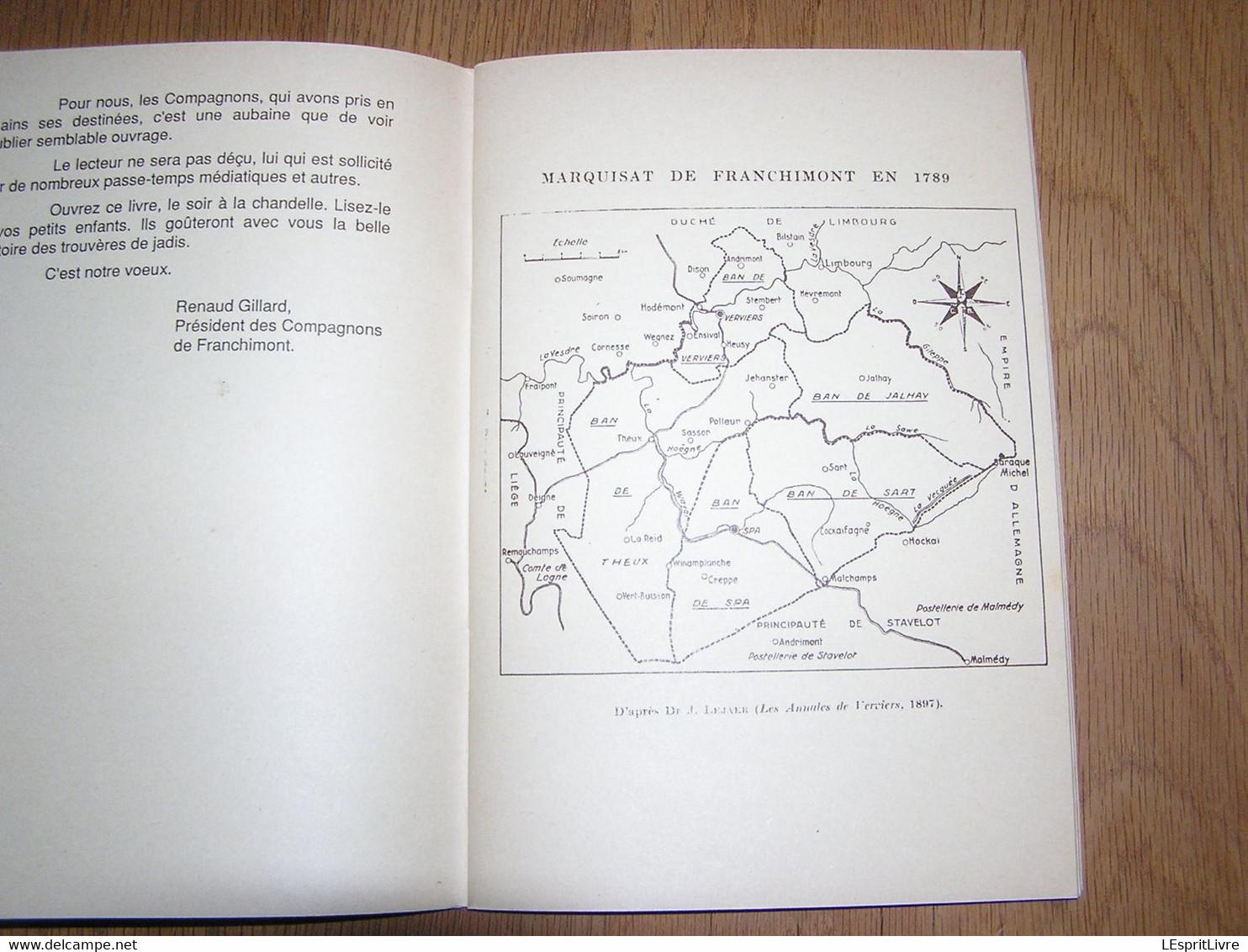 LE VERBOUC DE FRANCHIMONT Albert Moxhet Pol Noël Exemplaire N° 2 Régionalisme Liège Légendes Histoire Folklore Wallonie - Bélgica