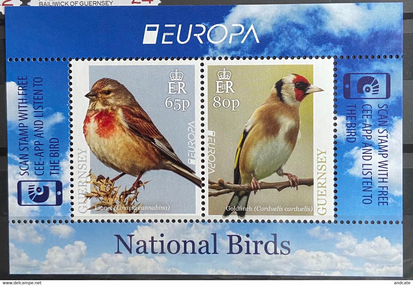 Guernsey 2019 MNH - Europa , National Birds - Guernsey