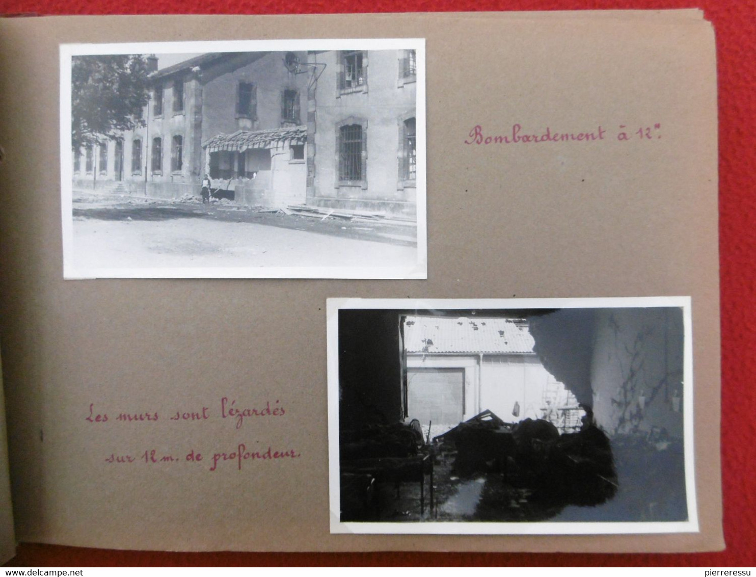PHOTOS PARC D'ARTILLERIE DE CONFLANS AMBULANCE CHIRURGICALE LOURDE 427 LABRY LE BLAYMARD BANNES VILLEFORT EXODE 1940 - War, Military