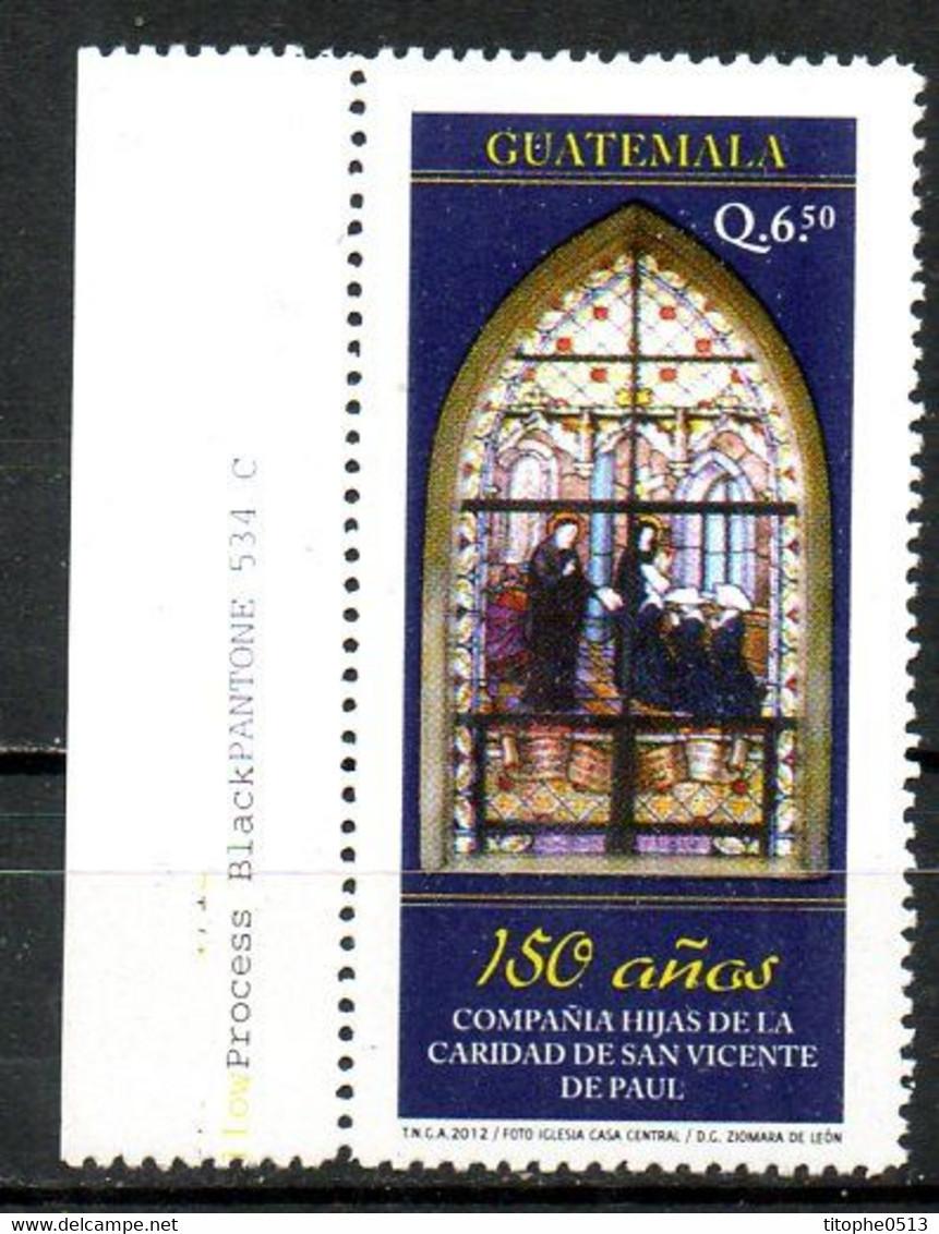 GUATEMALA. Timbre De 2012. Vitrail/Soeurs De Saint-Vincent De Paul. - Glasses & Stained-Glasses