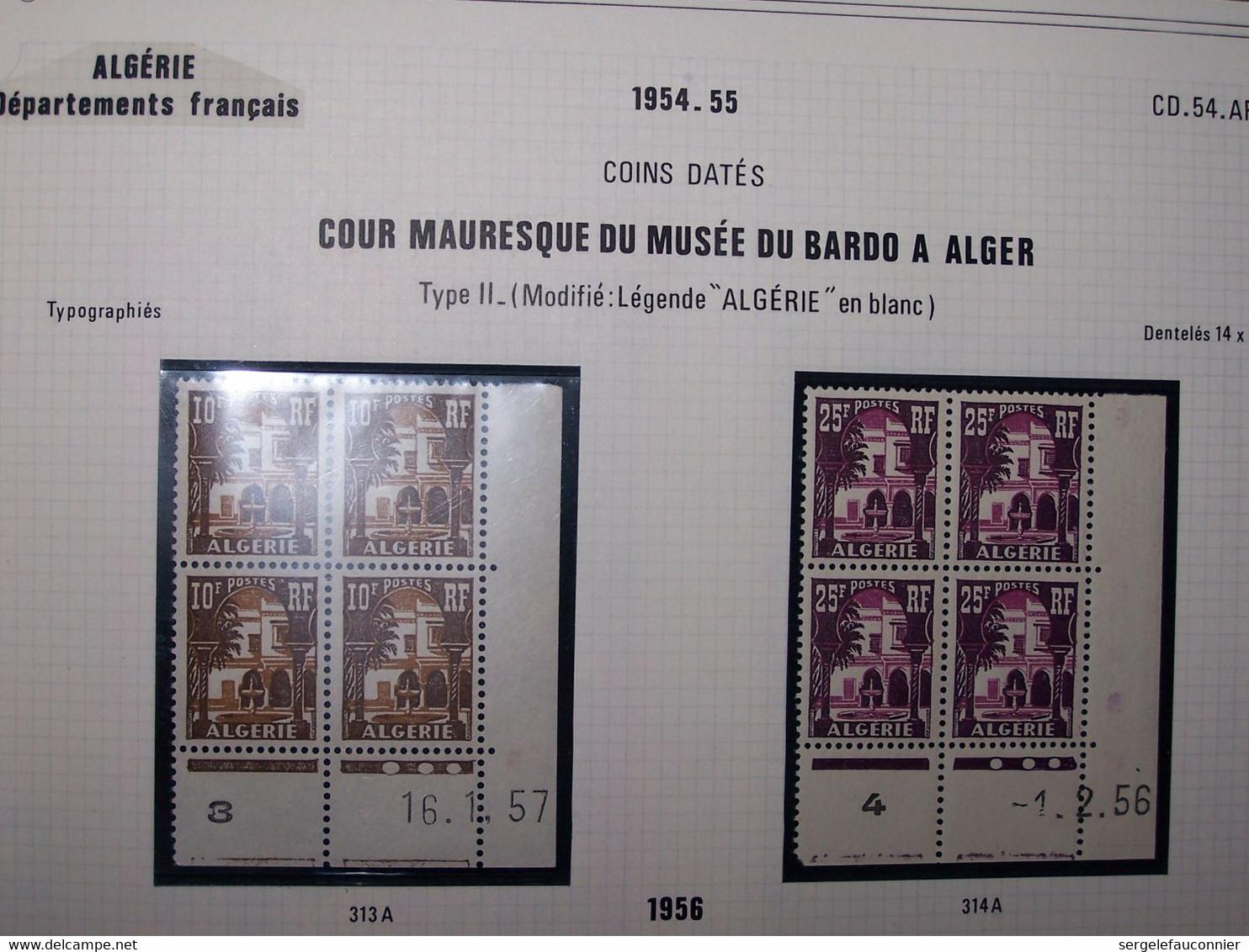 ALGERIE Département FRANCAIS. Coins Datés 1956-1957 - 1950-1959
