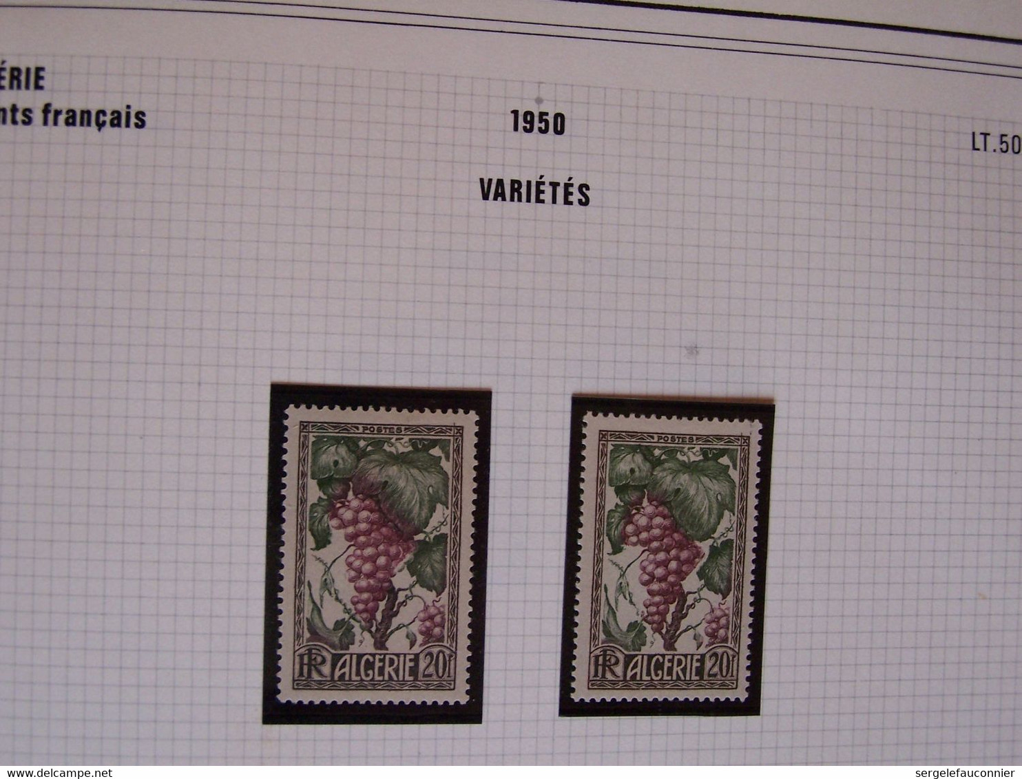 ALGERIE Département FRANCAIS. Timbres Neufs Variétés 1924-1958 - Varietà: 1921-30 Nuovi