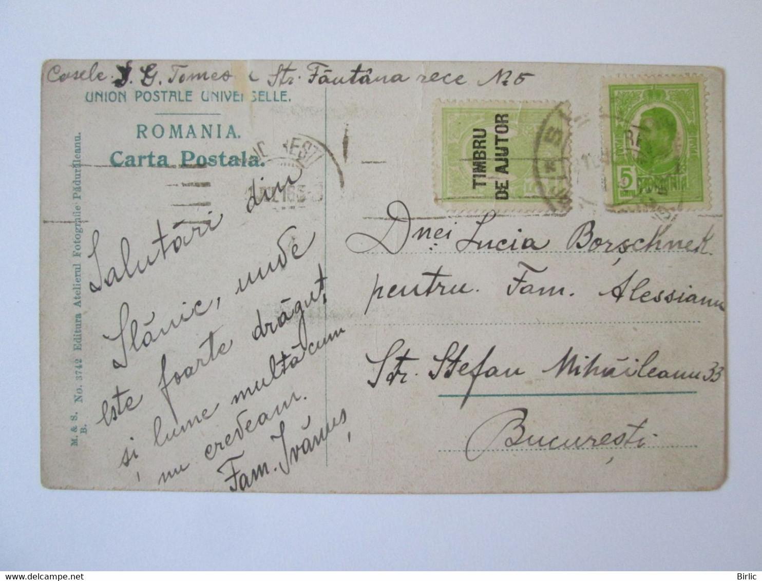Romania-Slanic Prahova 1916 Mailed Postcard - Romania