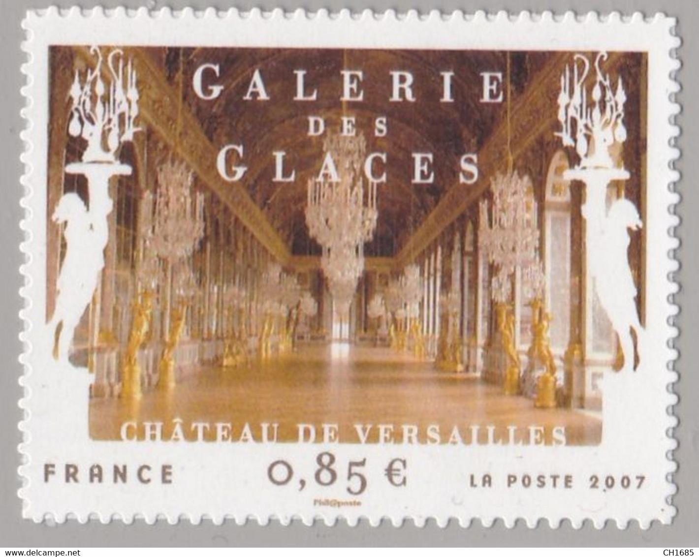 Adhésif 206 Galerie Des Glaces Versailles Neuf Sur Support D'origine Cote 48 € - Luchtpost