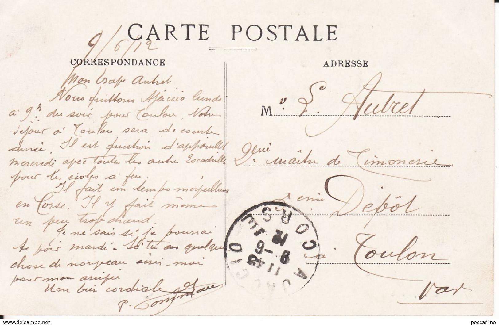 Corse, Ajaccio, Avenue Du Premier Consul, Le Grand Café, Animée ,Edition Paoli,1912, 2 Scans - Ajaccio