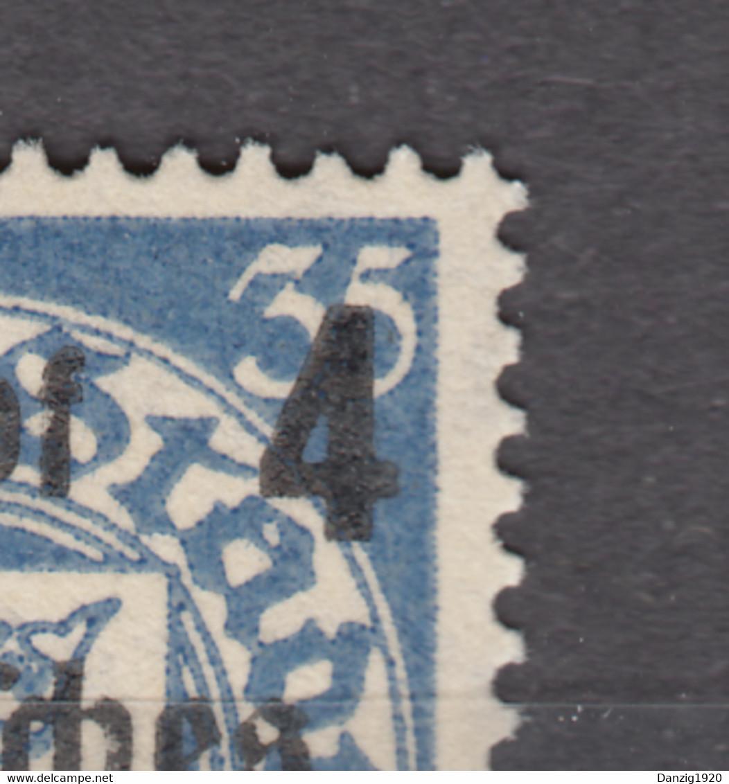 DR 1939 DANZIG,Mi 717-I,ABART,PF,langer Aufstrich Oben Links An Der 3 Der Rechten Oberen Wertangabe,Postfrisch (D2842) - Unused Stamps
