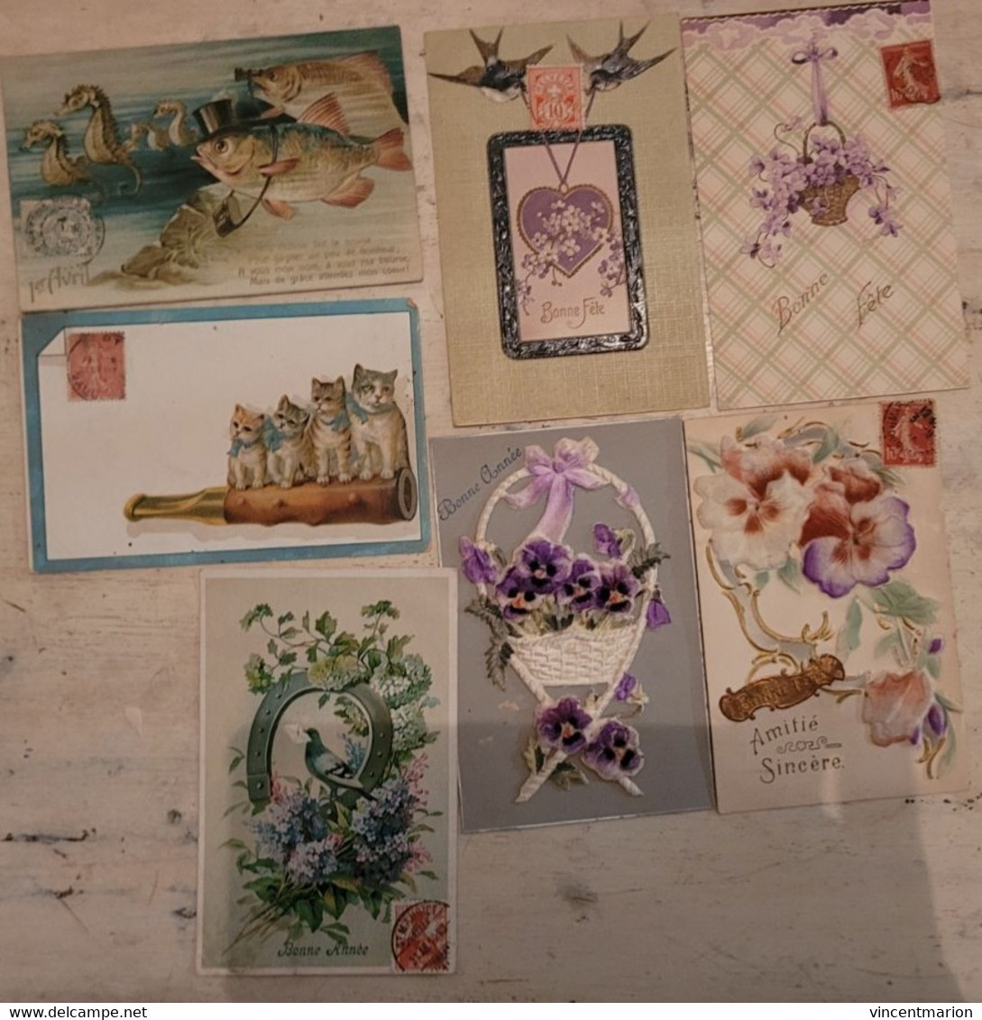 PRIX FIXE : Très Beau Lot De 140 CPA Fantaisies Adressées à La Même Personne ( M. BALLESTER, MARSEILLE)  - - 100 - 499 Postcards
