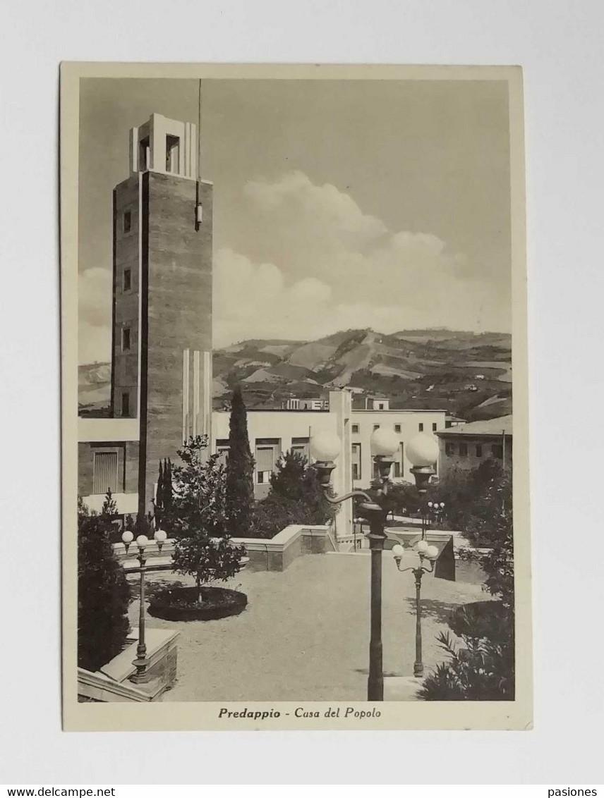 Cartolina Illustrata Predappio - Casa Del Popolo, Non Viaggiata - Andere Städte
