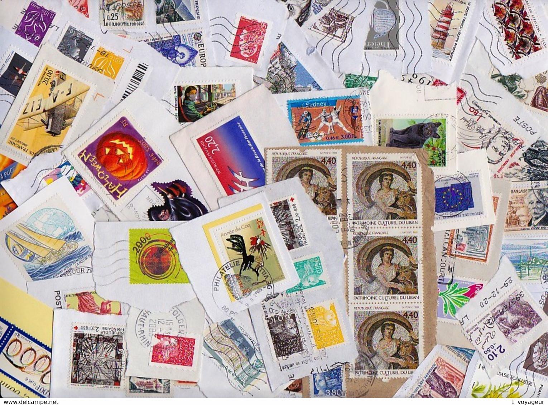 FRANCE - 500 Grammes De Timbres Oblitérés à Décoller - Toutes époques - Bien Diversifié - Bon état. - Lots & Kiloware (mixtures) - Min. 1000 Stamps