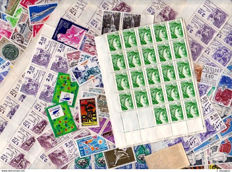 FRANCE- Lot 250 Euros De Valeur Faciale (sans Surtaxes) - Neufs SANS GOMME - Timbres En Francs. - Collections