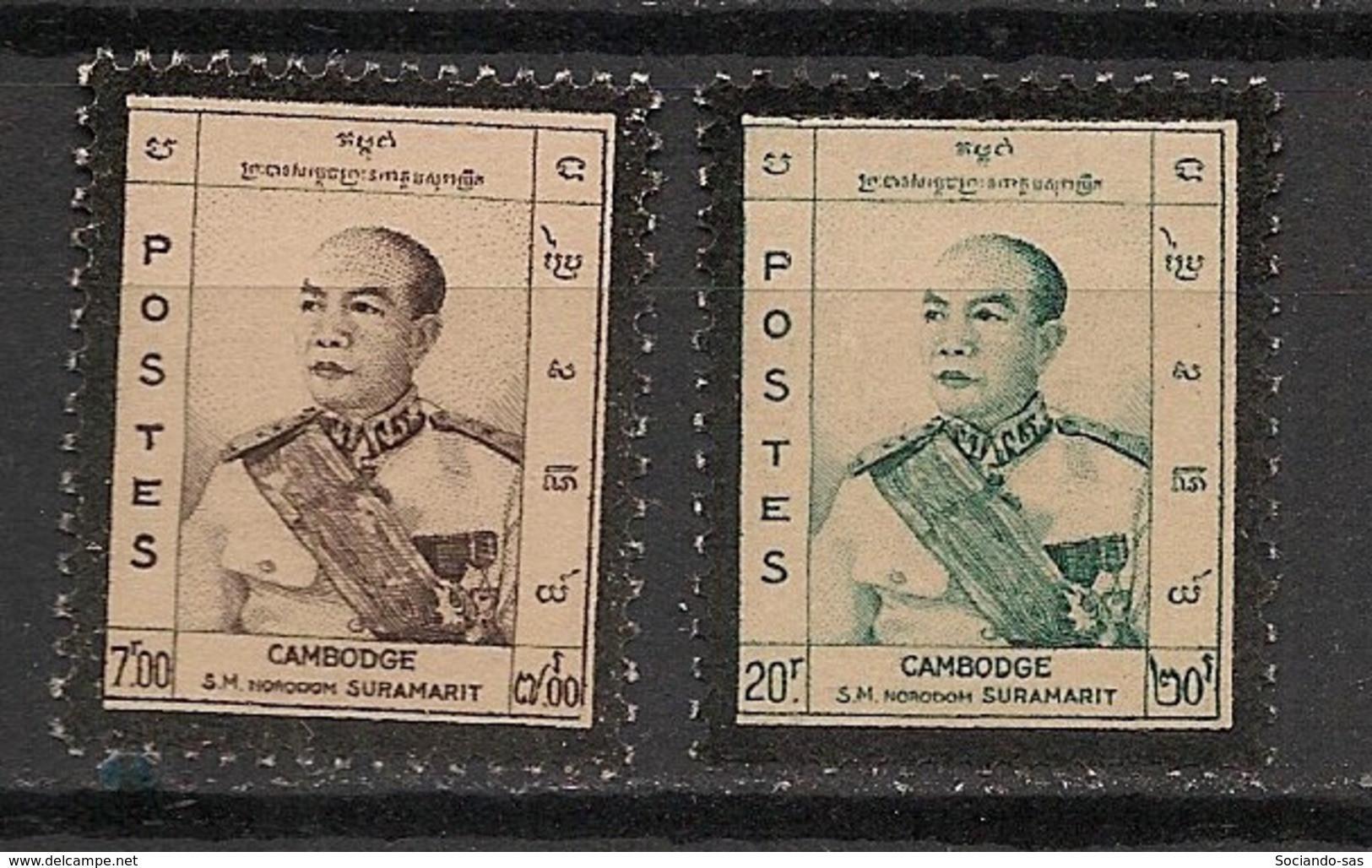 Cambodge - 1960 - N°Yv. 87 à 88 - Norodom Suramarit - Neuf Luxe ** / MNH / Postfrisch - Cambodia