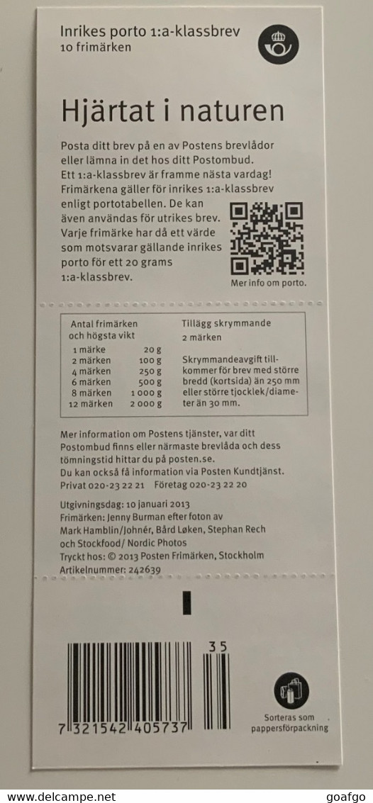 Sweden Stamps ** Sverige Brev ...10 ST INRIKES FRIMÄKEN - Jenny Burmann ** - Plaatfouten En Curiosa
