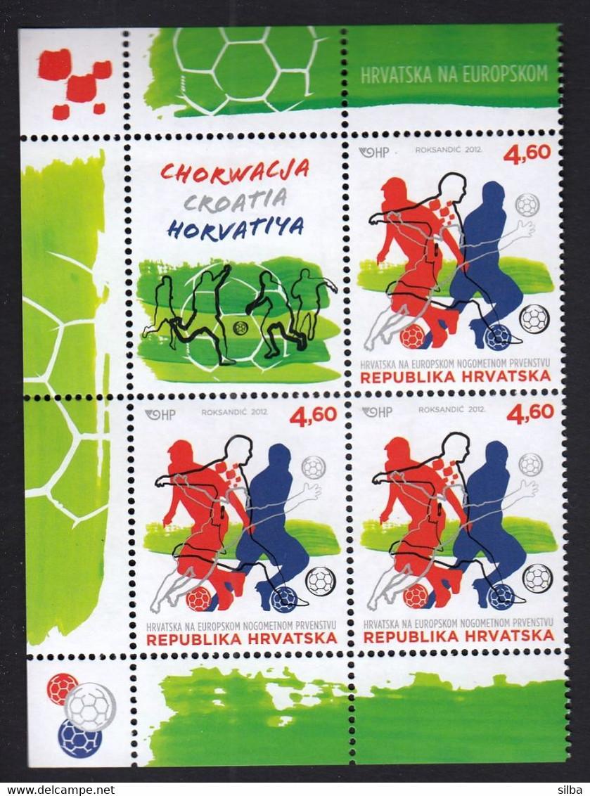 Croatia 2012 / European Football Championship / MNH Stamps + Vignette - Eurocopa (UEFA)